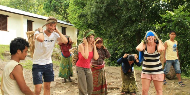 Construction volunteering in Nepal