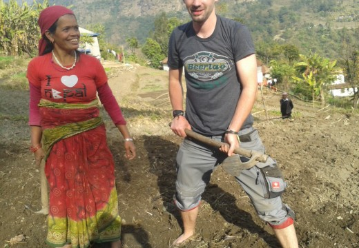 Volunteering in Nepal agricultural work