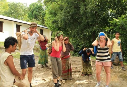 Construction volunteering in Nepal