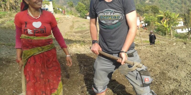 Volunteering in Nepal agricultural work